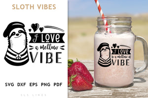 Hippie Sloth SVG - Mellow Vibe PNG
