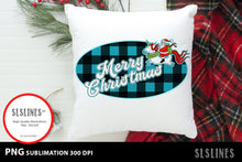 Load image into Gallery viewer, Santa Claus on a Unicorn PNG sublimation