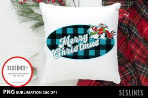 Santa Claus on a Unicorn PNG sublimation