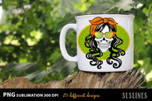Load image into Gallery viewer, Mom Life Style Skull PNG Sublimation Big Bundle