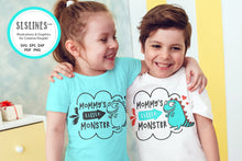 Load image into Gallery viewer, Baby & Toddler Designs SVG - Mommy's Little Monster PNG