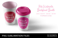 Load image into Gallery viewer, Sublimation Backgrounds - Watercolor Circles in Pink