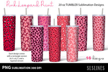 Load image into Gallery viewer, Skinny Tumbler Sublimation PNGs - Pink Leopard Prints