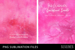 Sublimation Backgrounds - Watercolor Squares in Pink