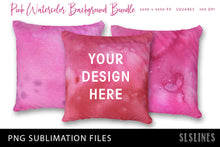 Load image into Gallery viewer, Sublimation Backgrounds - Watercolor Squares in Pink