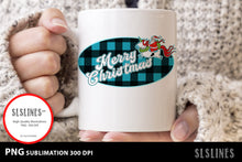 Load image into Gallery viewer, Merry Christmas Santa Buffalo Plaid Sublimation BUNDLE