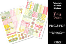 Load image into Gallery viewer, Printable Stickers: Planner Stickers Pretty Daisy Design
