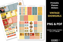 Load image into Gallery viewer, Printable Stickers: Planner Stickers Vintage Showgirl