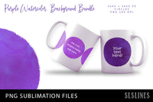 Load image into Gallery viewer, Purple Watercolor Circles Backgrounds for Sublimation & Prints