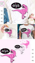 Load image into Gallery viewer, Pink T-Rex RAWR SVG - Dinosaur Designs