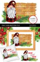 Load image into Gallery viewer, Christmas Gnome in Red Plaid PNG sublimation