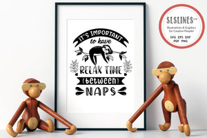 Napping Sloth SVG - Relaxed Sloth PNG