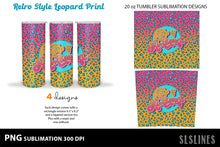 Load image into Gallery viewer, Skinny Tumbler Sublimation - Summer Vibes Leopard Print