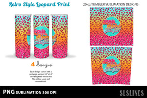 Skinny Tumbler Sublimation - Summer Vibes Leopard Print