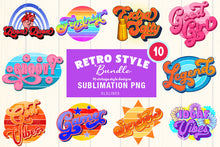 Load image into Gallery viewer, Retro Style BUNDLE - Vintage Sublimation Designs