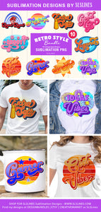 Retro Style BUNDLE - Vintage Sublimation Designs