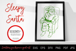 Sleepy Santa & Beer Drinking Santa Claus SVG