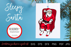 Sleepy Santa Claus SVG