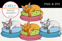 Load image into Gallery viewer, Lazy Cat on a Pillow Graphics EPS PNG