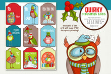 Load image into Gallery viewer, Quirky Christmas Birds Graphics EPS PNG