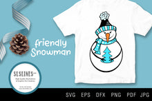 Load image into Gallery viewer, Christmas Snowman SVG EPS PNG