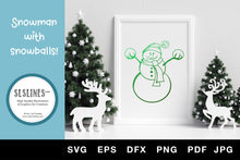 Load image into Gallery viewer, Christmas Snowman with Snowballs SVG EPS PNG