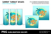 Load image into Gallery viewer, Skinny Tumbler Sublimation - Summer Beach Designs