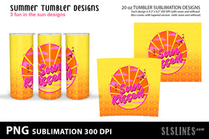 Skinny Tumbler Sublimation - Summer Beach Designs