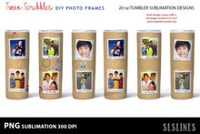 Load image into Gallery viewer, Tween Scribbles DIY Photos PNGs - Tumbler Sublimation Designs 20oz