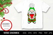 Load image into Gallery viewer, Christmas Gnome Wine Drinkers SVG