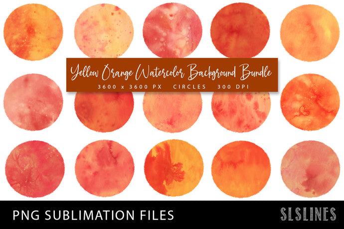 Sublimation Backgrounds - Watercolor Circles in Yellow