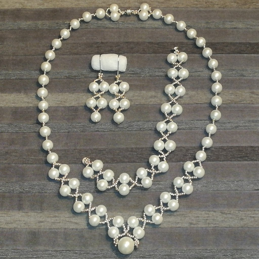 Ivory Perlen Collier Set Julia