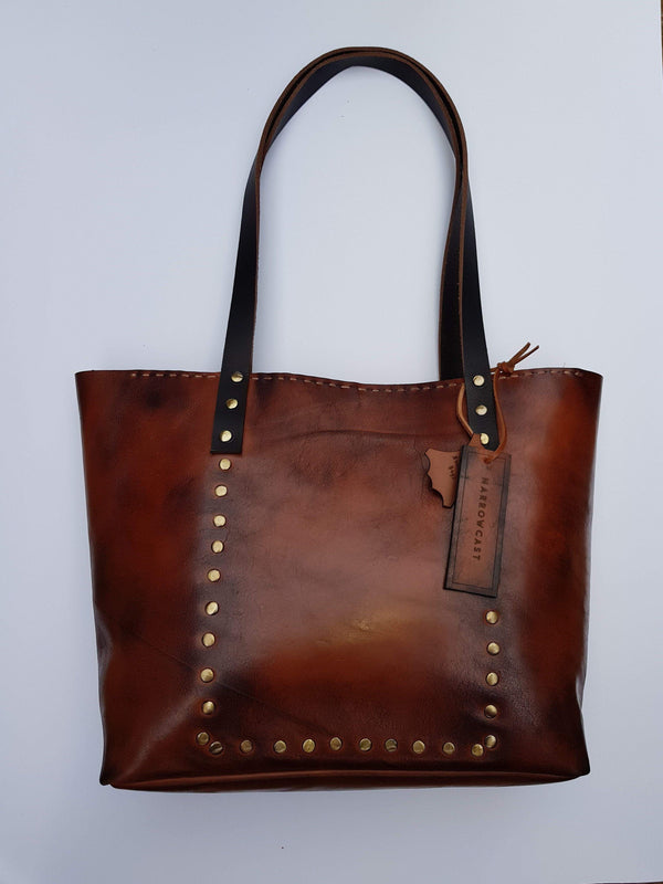 Narrowcast Scarves Vintage And Distressed Leather Tote