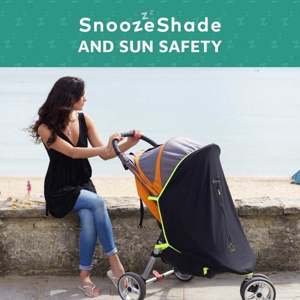 How do I protect my baby safely from the sun in the pram?