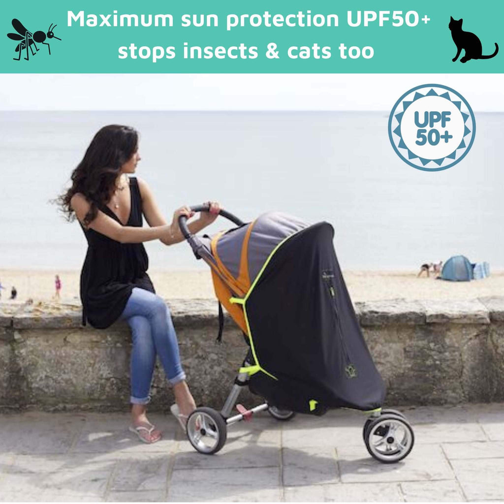 SnoozeShade Original (0-6m) | Universal pram sun shade | Blocks 99% of UV