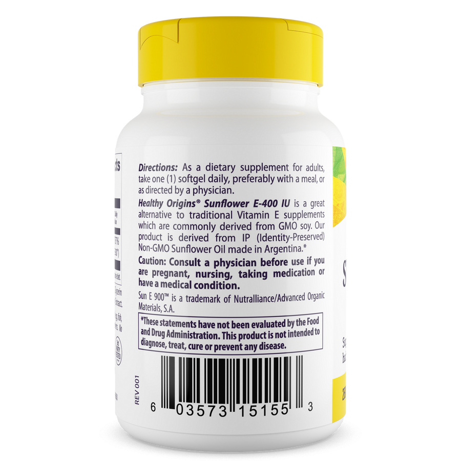 Vitamin E, 400 IU Sunflower (Sun E 900)