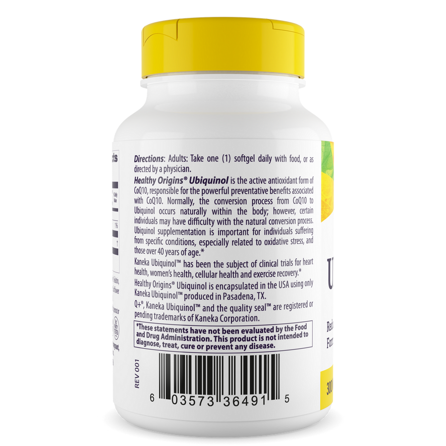 Ubiquinol, 300mg (Active form of CoQ10)