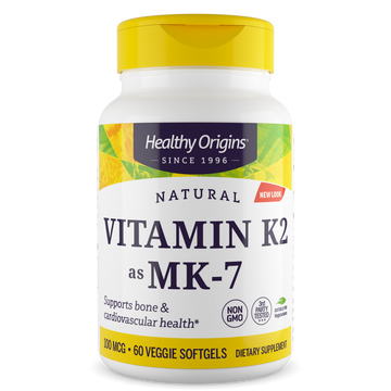 Vitamin K2 as MK-7, 100mcg - Veggie Gels