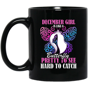 December Girl Mug December Girl Is Like A Butterfly