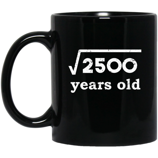 Square Root 2500 For 50th Birthday 50 Years Old Mug