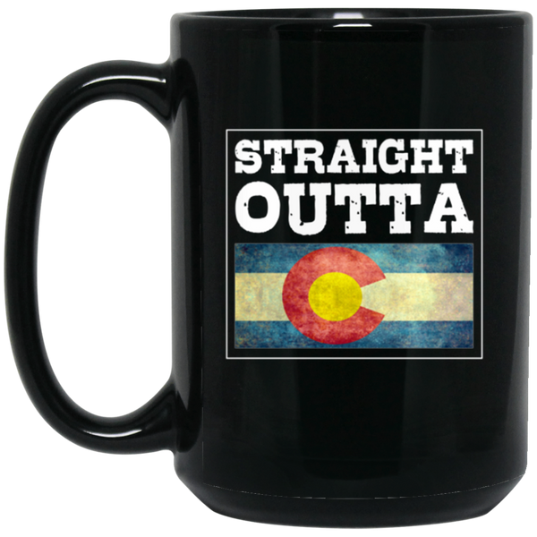 Straight Outta Mugs For Men Colorado Flag Mug