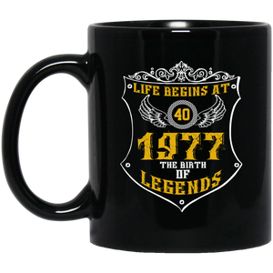Life Begins At Forty Mug Womens 1977 The Birth Of Legends