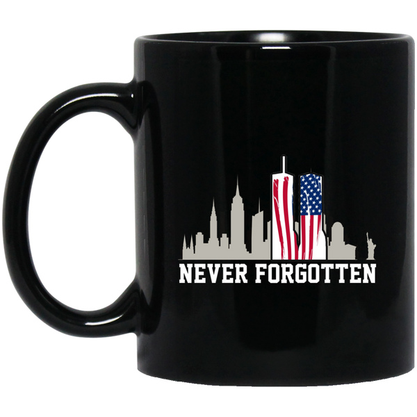 911 September 11 Remember Never Forget Memorial Mug
