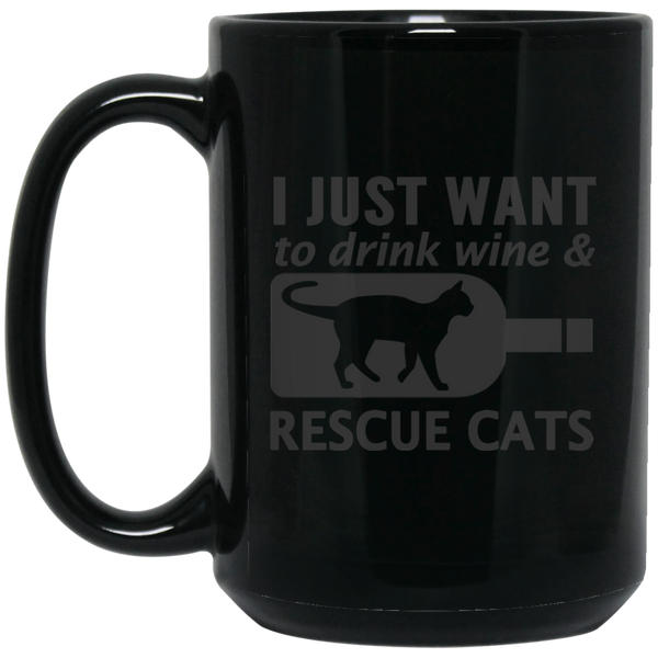 I Just Want To Drink Wine And Rescue Cats  Camug