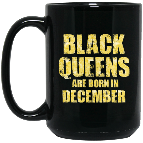 Black Queens Are Born In December Funny Birthday Gift