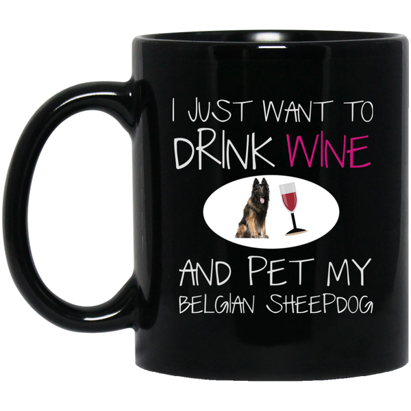 Sheepdog Mugdrink Wine And Pet My Dog