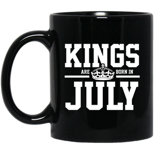 Kings Are Born In July Mug Funny Birthday Gifts For Women