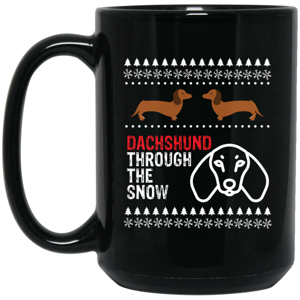 Dachshund Christmas Mug Dachshund Through The Snow Mug
