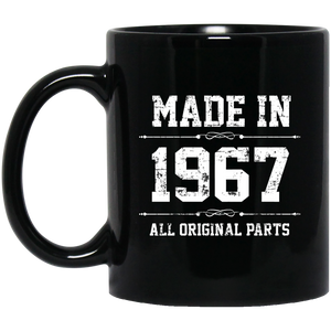 Made In 1967 All Original Parts Birthday Men's Mug