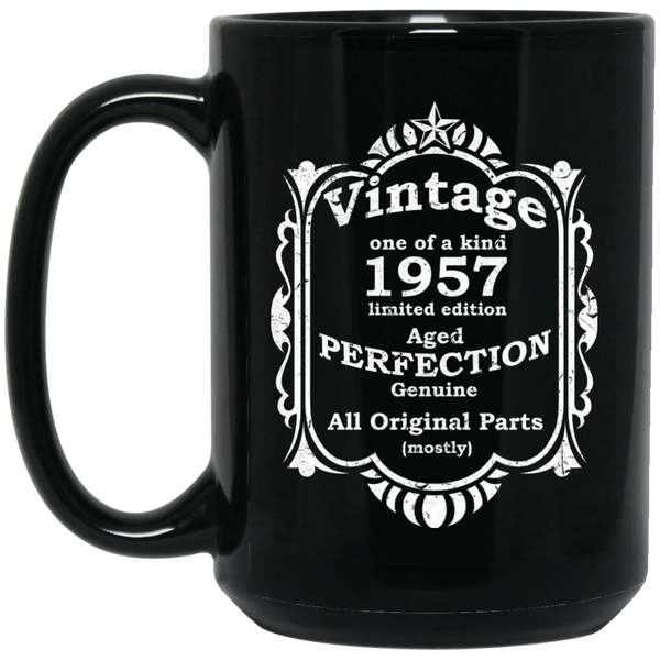 1957 Aged To Perfection  60 All Original Parts Mug 1957 Birthday Gift